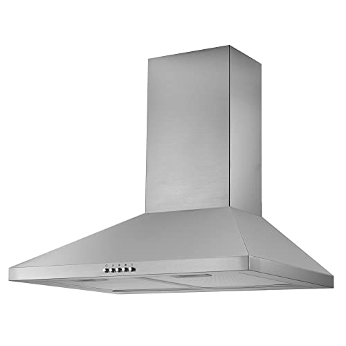 cookology cmh605ss 60cm chimney cooker hood in stainless steel   kitchen  extractor fan