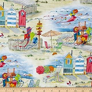 Elizabeth's Studio Beach Vista Allover Sand Fabric By The Yard