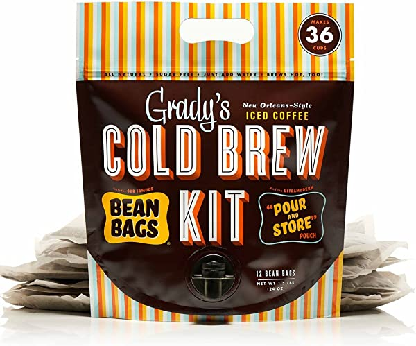 Grady S Cold Brew Iced Coffee Cold Brew Kit Regular Pack Of 12 Unsweetened Keto Friendly Non GMO