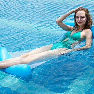 High quality Airbeds Adult Water Toys Beach Seaside Pool With Mesh Hammock Foldable Dual Backrest Floating Row Floating 13...