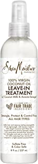 Shea Moisture 100% Virgin Coconut Oil Leave-in Treatment, Shine Curly and Tame Frizz for Tangle-Free Hair, All Natural certified Organic, 8 Ounce