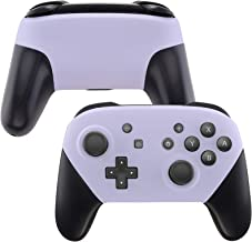 eXtremeRate Light Violet Faceplate and Backplate for Nintendo Switch Pro Controller, Soft Touch DIY Replacement Shell Hous...