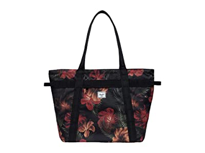 Herschel Supply Co. Alexander Zip (Tropical Hibiscus) Tote Handbags