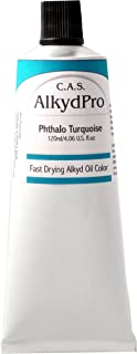 C.A.S. Paints AlkydPro Fast-Drying Oil Color Paint Tube, 120ml, Phthalo Turquoise