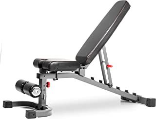 XMark Commercial Flat Incline Decline Weight Bench, 1500 lb Capacity, 7 Back Pad Adjustments from Decline to Military Press, Ergonomic 3 Position Adjustable Seat, and Built in Transport Wheels