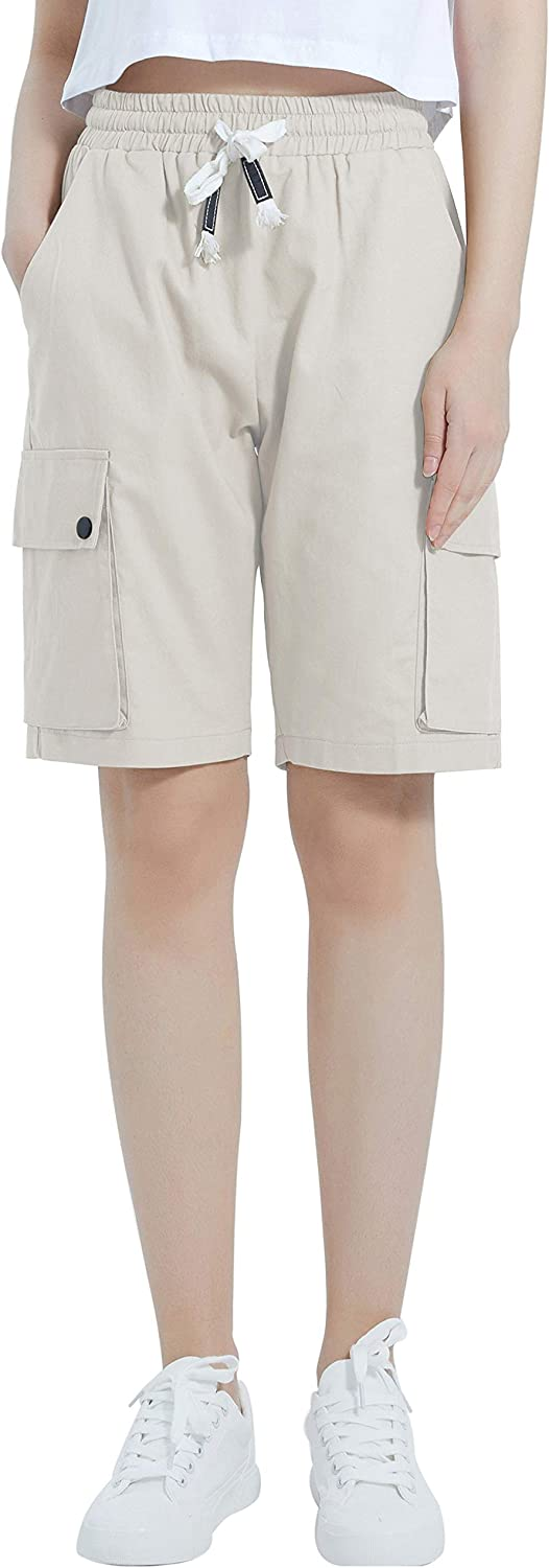 XinYangNi Women's shop Cargo Shorts Elastic Waist Drawstring Cotton L We OFFer at cheap prices