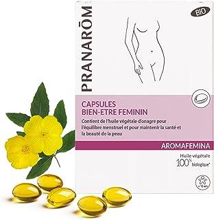 Pranarôm Aromafemina Capsules Bien-être Féminin Bio, Contient de l'huile végétale d'onagre pour l'équilibre menstruel et p...