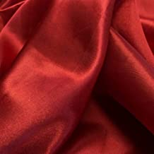 """mds Pack of 10 Yard Charmeuse Bridal Solid Satin Fabric for Wedding Dress Fashion Crafts Costumes Decorations Silky Satin 44"""" Apple Red"""
