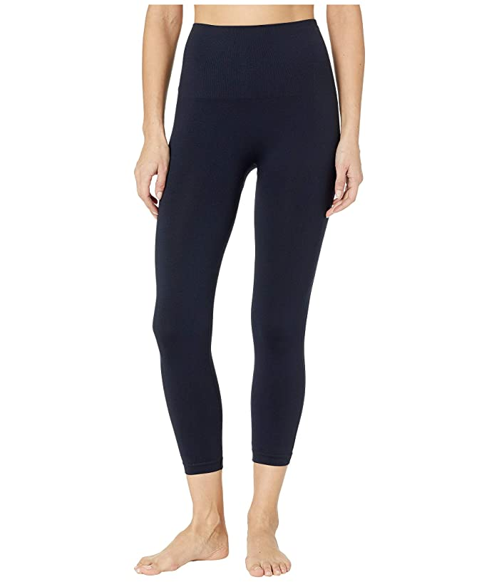 Spanx Look At Me Now Cropped Seamless Leggings (Port Navy) Women
