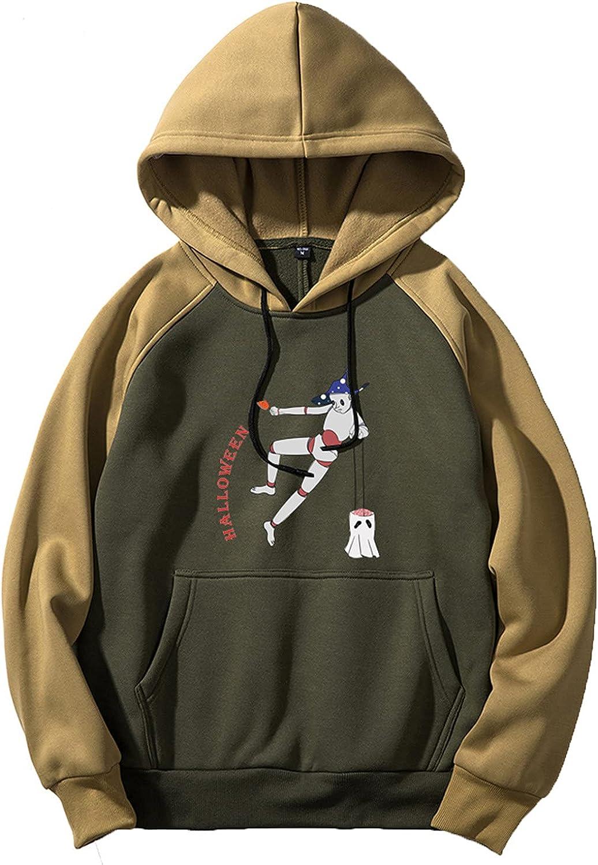 Bravetoshop 2021 Halloween Pattern Printed Hoodies Unisex Novelty Graphic Pullover Hooded Sweatshirt Outerwear