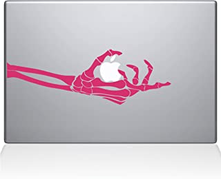 "The Decal Guru 1048-MAC-13A-BG Skeleton Hand Grabs MacBook Decal Vinyl Sticker - 13"" Macbook Pro (2016 & newer) - Pink"
