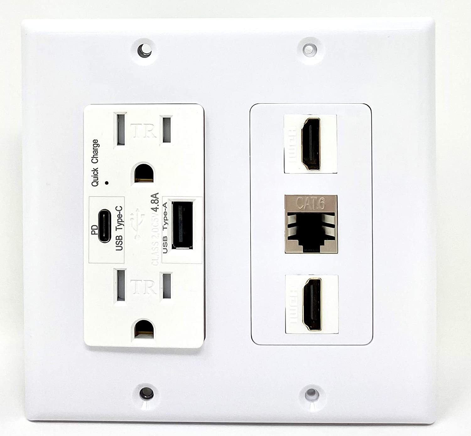 RiteAV USB Charger Outlet 15A Type-A Popular product with 125V Ch Max 40% OFF Type-C