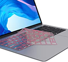Kuzy - MacBook Air Keyboard Cover, 13 inch 2019 2018 New A1932 with Touch ID and Retina Display Premium Ultra Thin TPU Protective Skin Protector - Pink