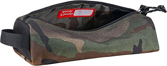 Rough Enough Camo Large Big Zipper Pencil Case Pouch Holder Bag Box for Boys Girls Kids Teen Women Men Art Supplies Case in Outdoor Fabric with Special Screen print for Travel School Stationery Car