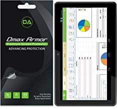 Dmax Armor [3-Pack] for RCA Pro 10 Edition Tablet (RCT6103W46) Screen Protector High Definition Clear Shield