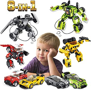 PANLOS STEM Robot Educational Learning Building Bricks Toy Model Cars Set Vehicles Gifts for Kids Boys and Girls Tight Fit and Compatible with All Major Brands 862 PCS