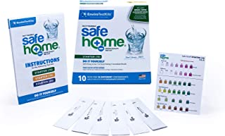 10% OFF MSRP HOLIDAY SALE – Safe Home STARTER-10 Water Quality Test Kit – DIY Testing for 10 Different Contaminants – FANTASTIC STOCKING-STUFFERS for Your Loved Ones!