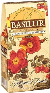 Basilur Magic Fruits RASPBERRY and ROSEHIP Black Leaf Tea -100g