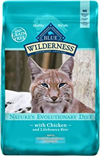 Blue Buffalo Wilderness High Protein, Natural Adult Indoor Hairball Control Dry Cat Food