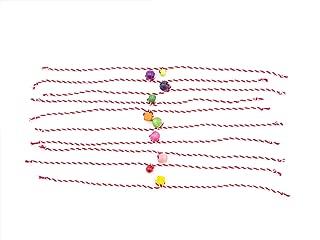 Martenitsa Bulgaria Handmade Bracelet for Baba Marta 1 Mart. Bulgarian Martenica, Martenitsi, Martenichki, set of 10