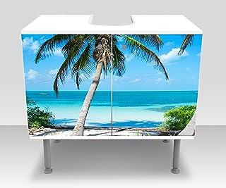 wandmotiv24 Mueble de baño Palmas en una Playa Tropical