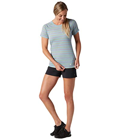 Smartwool Merino 150 Baselayer Short Sleeve (Wave Blue Stripe) Women