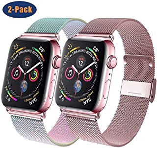 GBPOOT Compatible for Apple Watch Band 38mm 40mm 42mm 44mm, Wristband Loop Replacement Band for Iwatch Series 5,Series 4,Series 3,Series 2,Series 1