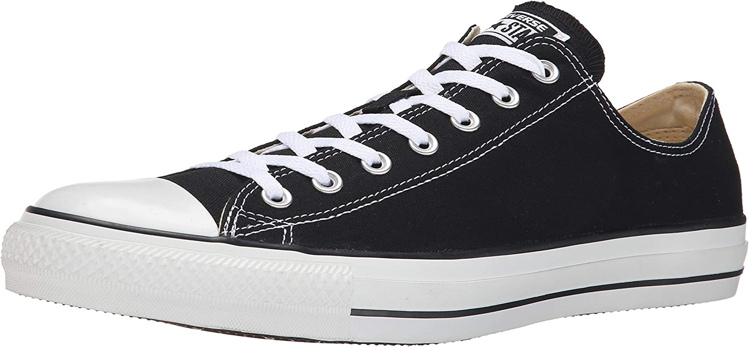 Converse Chuck Taylor All Star shoes (M9166) Low top in Black, 3 D(M) US Mens   5 B(M) US Womens, Black