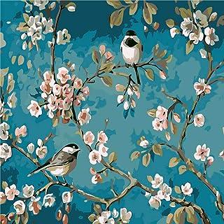 SNOWZAN Doe-het-zelf 5D Diamond Painting vogels bloemen strass borduurwerk schilderij diamant schilderij volledige kit dia...