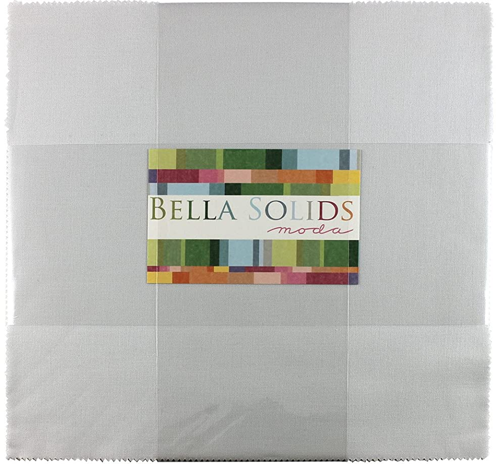 Bella Solids Feather Junior Layer Cake 20 10-inch Squares Moda Fabrics 9900JLC 127