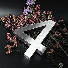 LHongBin-Deur huisnummer, ABC Outdoor Metalen 3D Moderne Zilver, Roestvrij Staal Home Hotel Appartement Naam Plaat Aangepa...
