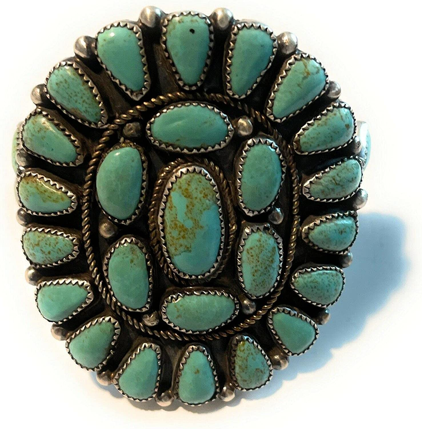 Nizhoni Traders LLC Navajo Mountain Turquoise Sterling Silver Cl