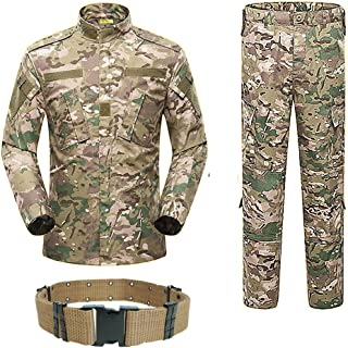 Men Tactical BDU Combat Uniform Jacket Shirt & Pants Suit for Army Military Airsoft Paintball Hunting Shooting War Game Multicam MC