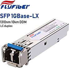 FlyFiber Gigabit SFP LC Single-Mode Transceiver,1000BASE-LX/LH Mini-GBIC Module for Juniper EX-SFP-1GE-LX/QFX-SFP-1GE-LX (SMF, 1310nm, 10km, Dual LC, DDM)