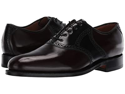 J&M Collection Carleton Saddle (Black/Burgundy) Men