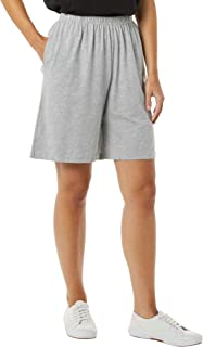 Women's Cotton Shorts - Elastic Waist Lightweight Casual...