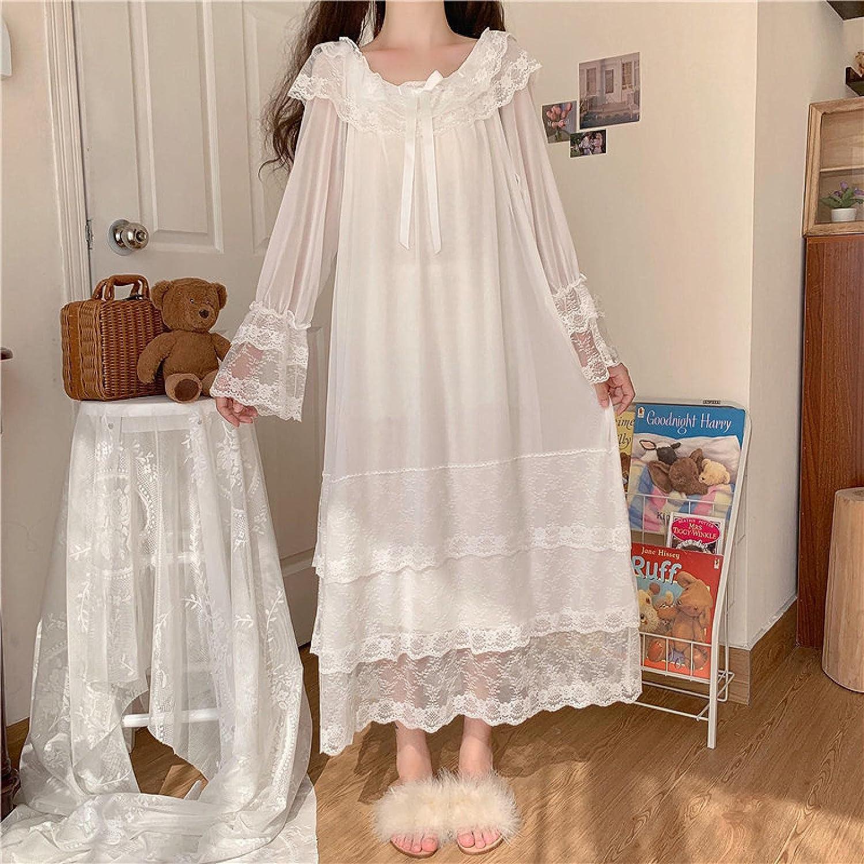 STJDM Nightgown Princess Sale item Sleepwear Online limited product Fairy Night Dress Lace Women