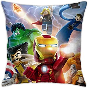 FELDFUNK Super Hero Ninjago Iron Man Throw Pillow Covers Decorative Case Square Cushion for Sofa Bedroom Car Living Sitting Room Farmhouse Couch Seat Outdoor Bed Armchair and Home Decor 18x18