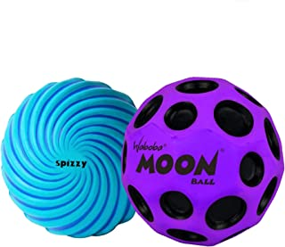 Waboba Moon Ball & Spizzy Outdoor Bouncing Balls 2 Pack Set | Includes 2 Kids Outdoor Bouncy Balls | Great Toys for Outdoo...