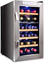 Ivation Premium Stainless Steel 18 Bottle Dual Zone Thermoelectric Wine Cooler/Chiller Counter Top Red & White Wine Cellar w/Digital Temperature, Freestanding Refrigerator Quiet Operation Fridge