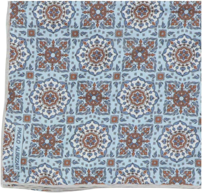 Paolo Albizzati Men's Square Silk Columbus Mall Floral Pocket Fees free!!