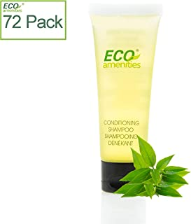 ECO amenities Transparent Tube Flip Cap Individually Wrapped 30ml Shampoo & Conditioner 2 in 1, 72 Tubes per Case