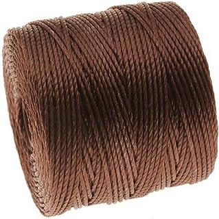 Beadsmith Super-Lon Cord Size No.18 Twisted Nylon Spool, 77-Yard, Brown