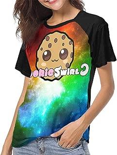 JosephHenkle Womens Raglan 3D Printed T-Shirts Womans Stylish Top Black Gift
