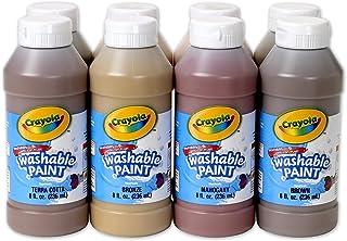 Crayola Multi-Ethnic Washable Tempera Paints, 8 Ounces, Assorted Skin Tone Colors, Set of 8
