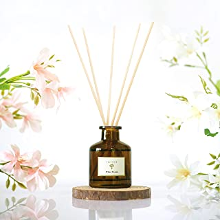PRISTINE White Freesia Reed Diffuser Set| Reed Oil Diffuser Sticks 1.6oz | Fiber Sticks | Aromatherapy as a means for Stre...