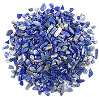 WAYBER 1 Lb/460g Irregular Decorative Pebbles Crystal Stones Rock Sand for Aquarium/Fish Turtle Tank/Vase Fillers/Air Plants/Succulent Plants Decor