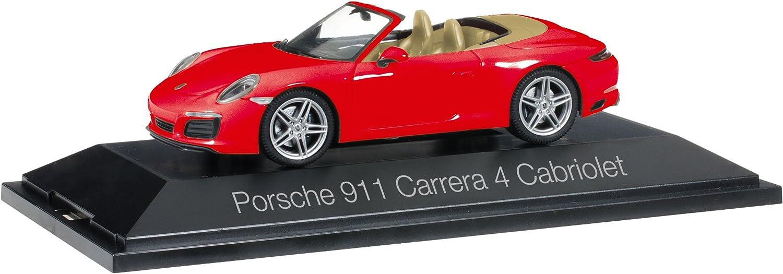 Herpa 071109 Porsche 911 Carrera 4 Cabriolet, Fahrzeug, Indischrot B06XWC76ZZ Großer Verkauf  | Exquisite Handwerkskunst