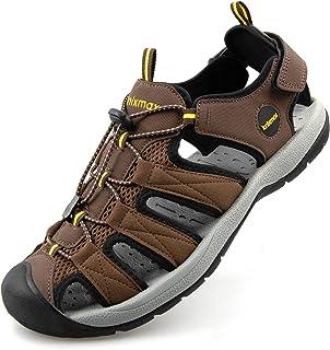 Knixmax Men Women Walking Sandals Closed Toe Outdoor Hiking Sports Sandals Summer Shoes