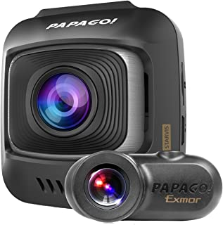 PAPAGO! GoSafe S780 1080p Full HD 60 FPS 2-Channel Dash Cam with Sony Starvis Image Sensor Ultra Wide Angle and 16GB Micro SD Card (GSS78016G)